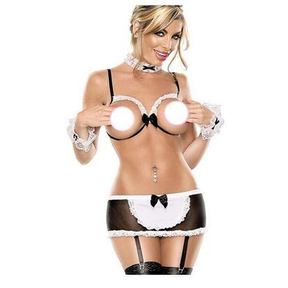 Zdjęcie  -50%  Komplet seksownej bielizny- Pokojówka 0100